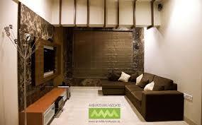 Large Living Room With Brown Sofas Design By Anish Motwani Associates Interior Designer In