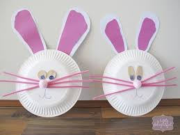 Easy Kids Craft Paper Plate Bunnies