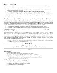 Mechanical Technician Cv Sample Electro Resume Nic Experience Resumes Examples Equipped And