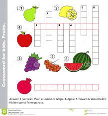 Christmas Tree Type Crossword by Winter Crossword For Kids Stock Vector Image 63672579