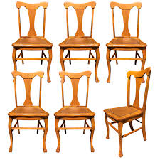 Antique French Country Quartersawn Oak T-Back Dining Chairs With Leather  Bottom - Set Of 6 Refinished Painted Vintage 1960s Thomasville Ding Table Antique Set Of 6 Chairs French Country Kitchen Oak Of Six C Home Styles Countryside Rubbed White Chair The Awesome And Also Interesting Antique French Provincial Fniture Attractive For Eight Cane Back Ding Set Joeabrahamco Breathtaking