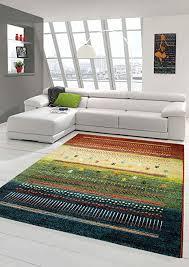 designer teppich moderner teppich wohnzimmer teppich barock design multi farbverlauf modern in grün rot gelb türkis bunt größe 160x230 cm