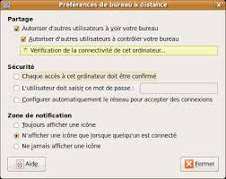 autoriser bureau a distance controler a distance sa machine ubuntu via vnc ubuntu