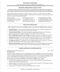 CEO COO Page1 Free Resume Samples Template Sample