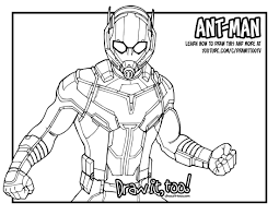 Download Ant Man Coloring Pages Marvel New Page