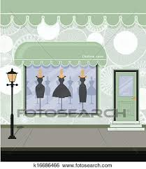 Clip Art Of Clothing Store K16686466