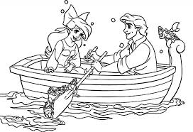 Disney Ariel And Eric Coloring Pages Getcoloringpages For Intended To Inspire