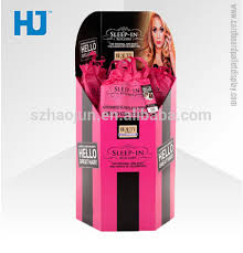 Cardboard Salon Hair Display StandDisplay Stands For Beauty Products