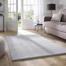 taracarpet supersoft kurzflor teppich fiona wohnzimmer schlafzimmer kinderzimmer flur läufer waschbar rutschfest uni grau 050x080 cm