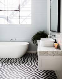 bathroom design black white mosaic tile