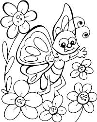 Full Page Coloring Pages Packed With Cute Butterfly