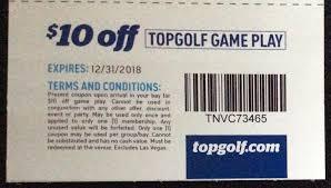 TOPGOLF $10 Off Game Play Expires 12/31/2018 - Slickdeals.net