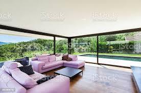 moderne villa innenansicht wohnzimmer stockfoto und mehr bilder architektur
