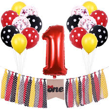 Amazon.com: ONINIT Yellow Red And Black Polka Dot Mickey And Minnie ... Minnie Mouse Highchair Banner 1st Birthday Party Sweet Pea Parties Banner High Chair Etsy Deluxe Pink Tutu City Mickey Clubhouse First I Am One Decorating Kit Shopdisney Handmade Princess One Bows Custom Amazoncom Am 1 Inspired Happy New Gold Forum Novelties Celebration Decoration Supplies For Themed