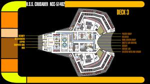 Starship Deck Plan Generator by U S S Crusader Deck 3 Plans By Trekkiegal On Deviantart