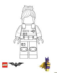 GCPD Barbara Gordon Lego Batman Movie Coloring Page