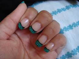 Blue nail tip designs how you can do it at home