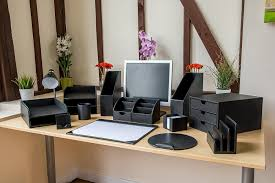 Leather Desk Blotter Australia by Osco A3 Faux Leather Desk Mat Black Amazon Co Uk Office Products