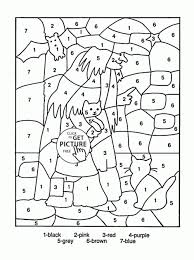 Colornumber Halloween Coloring Page For Kids Education With Color By Number Printables