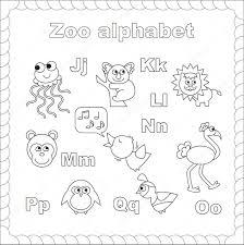 Dibujos Zoologico Para Imprimir Esquema Abecedario Zoológico Para