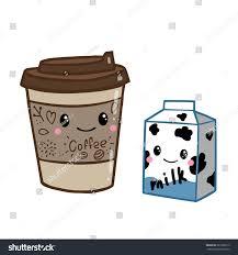 Cute Doodle Cartoon Hand Drawn Coffee Stock Vector
