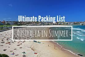 Female Packing List For Australia In Summer