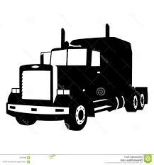 Top Semi Truck Silhouette Cdr