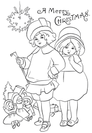 Click To See Printable Version Of Victorian Christmas Card Coloring Page