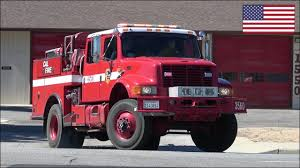 100 Brush Fire Truck CAL FIRE Truck Responding With Siren And Lights Engine 3560