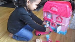 Princess Kitchen Play Set Walmart by Walmart Kids Connection Pretty Doll House Cheap And Fun Youtube