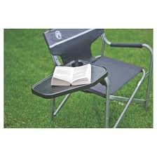 Aluminum Directors Chair With Swivel Desk by Coleman Deck Chair With Table Black Gray Target