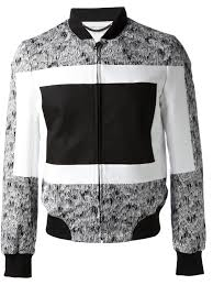 kenzo abstract printed bomber jacket in black for men lyst