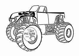 100 Monster Truck Coloring Jam Pages Maximum Destruction