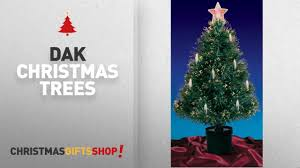Christmas Trees By Dak 3 Pre Lit Fiber Optic Artificial Tree With Candles