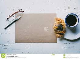 Creative Work ConceptMock Up Blank Craft Sheet Of Empty Paper