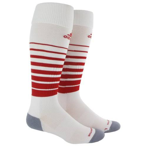 Adidas Boys Team Speed Soccer Socks - White/University Red, Medium