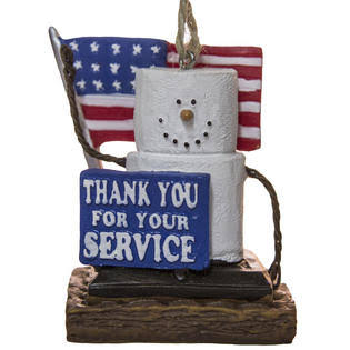 Midwest Season S'Mores Thank You Armed Service Military Christmas Ornament