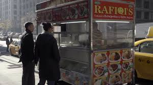 100 Snack Truck White Man And Black Woman At Snack Truck Vendor Ordering Food From