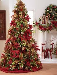 Christmas Trees Decorated With Mesh Ribbon DesignCorner