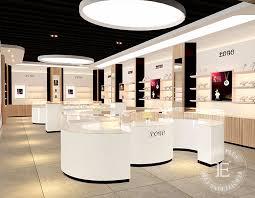 Modern Design Display Showroom With Jewelry Case Handbag Shelves
