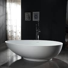freistehende badewanne vigo aus mineralguss weiß matt größe wählbar