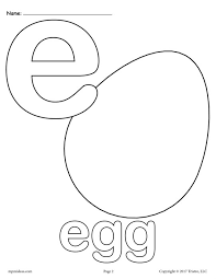 Lowercase Letter E Coloring Page