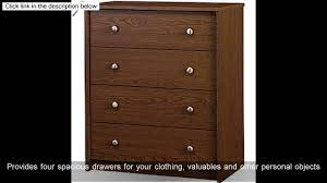 Ameriwood Dresser Assembly Instructions by Belmont 4 Drawer Dresser Chest Walnut Finish Youtube