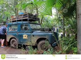 100 Safari Truck Classic Land Rover Stranded Animal Kingdom Editorial