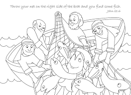 A Net Full Of Fish Coloring Page Free Download