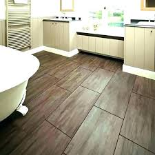 Tile Floor Bathroom Ideas Wood Flooring Chic Wooden Tiles Kitchen With Light Cabinets