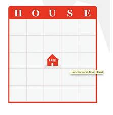 Game Idea House Bingo Free Download Housewarming
