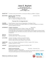 Sample Resume Recent Graduate Template For Students Templates And Builder