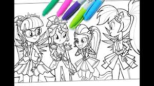 My Little Pony Coloring Book MLP Pages For Kids Equestria Girls