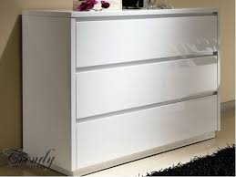 Alba High Gloss White Chest of Drawers Chest of drawers with an